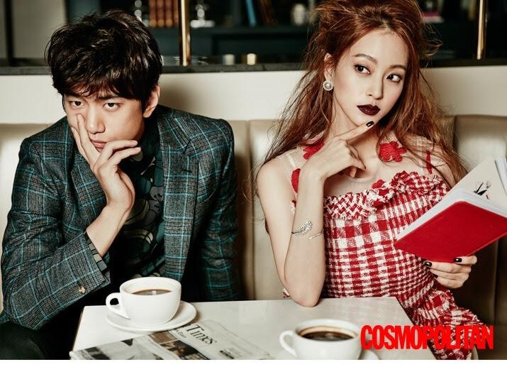 Sung Joon & Han Ye Seul  for Cosmopolitan Korea December 2015. Photographed by Zo Sun Hi