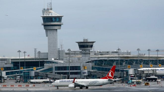 A Turkish Airlines aircraft taxis at Ataturk International Airport in Istanbul, Turkey, 13 February