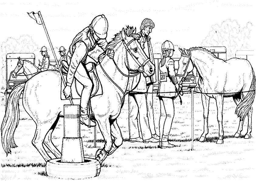 Pferde 20 Ausmalbilder Kostenlos