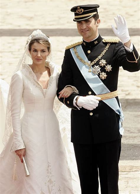 Queen Letizia of Spain's wedding dress designer Manuel