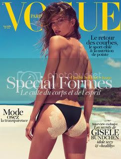 Gisele Bundchen Goes Topless for Vogue Paris Health Issue Cover