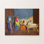 nativity Jesus Mary three kings christmas jigsaw Jigsaw Puzzles