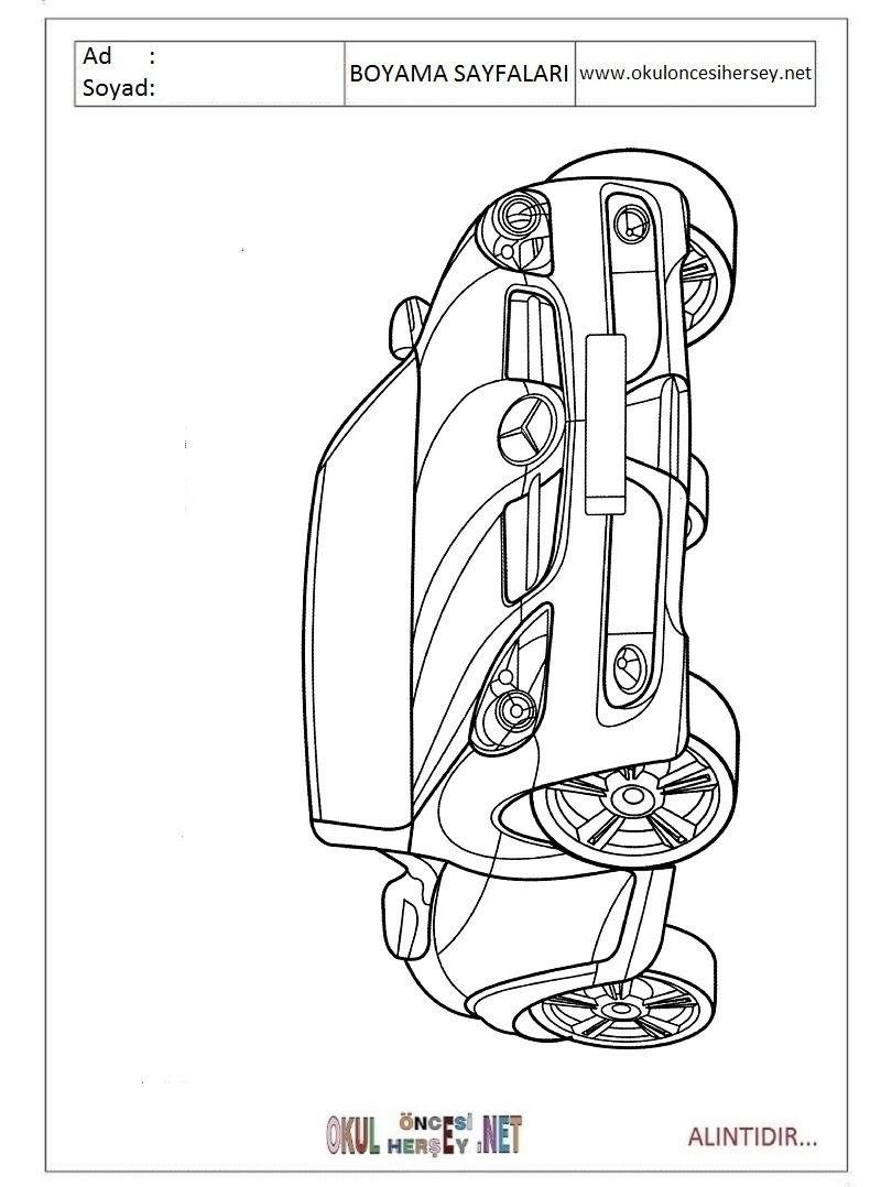 Mercedes Boyama Sayfaları