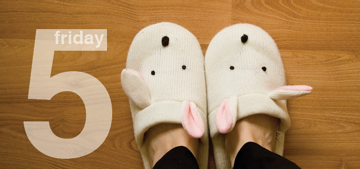 bunny slippers, graphics, friday five, dash dot dotty, blogs