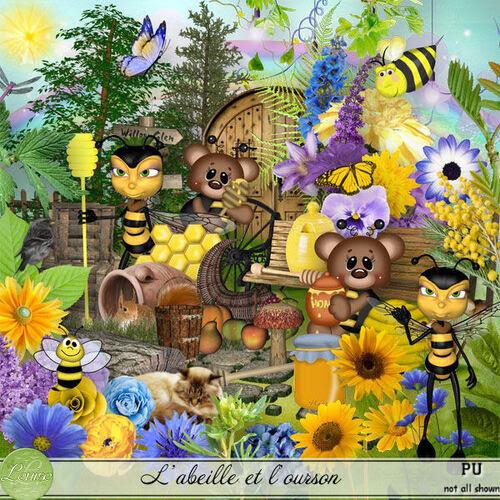 Kit L'abeille et l'ourson