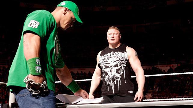 Powód nieobecności Johna Ceny na najbliższym RAW, Nowy WWE World Heavyweight Champion?, Informacje odnośnie Brocka Lesnara