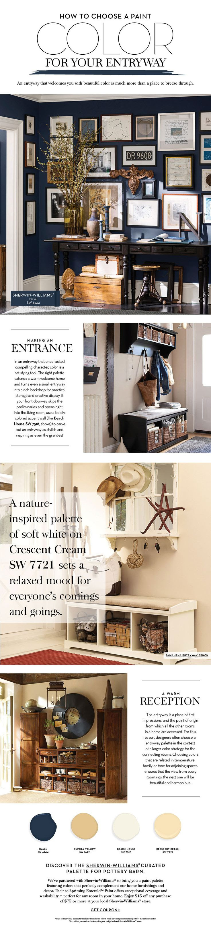 Choose a Paint Color For Your Entryway | Pottery Barn