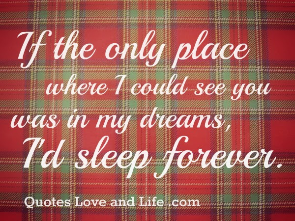 If The Only Place Where I Could See You Was In My Dreamid Sleep