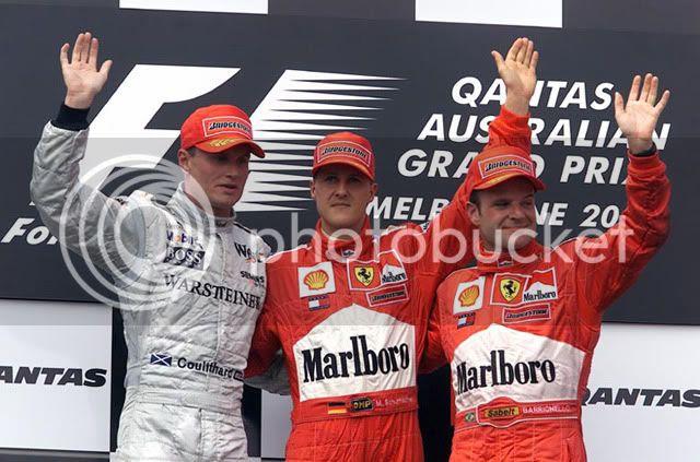 Podio del GP de Australia 2001