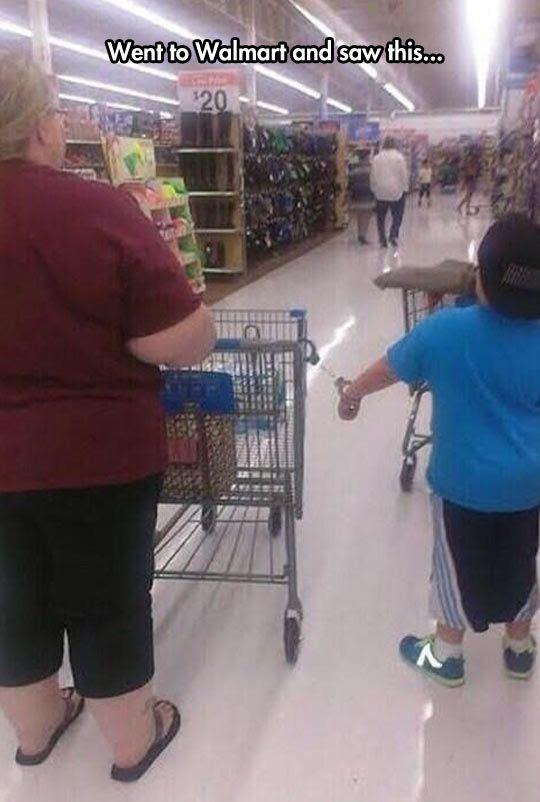 handcuffs in walmart, parenting fail, parenting win, mother and son, creative discipline