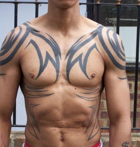 Tribal Tattoo On Shoulder Belly And Chest Best Tattoo Ideas Gallery