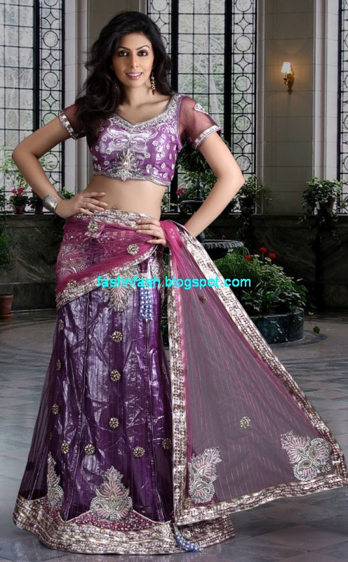 Saree-Designs-Lehanga-Choli-Style-Embroidered-Bridal-Party-Wear-Sari-New-Fashion-Clothes-6