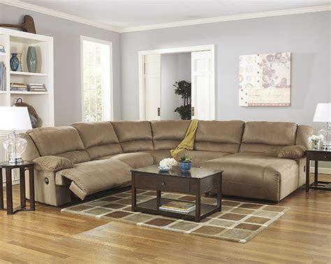 hogan mocha reclining sectional sofa  left