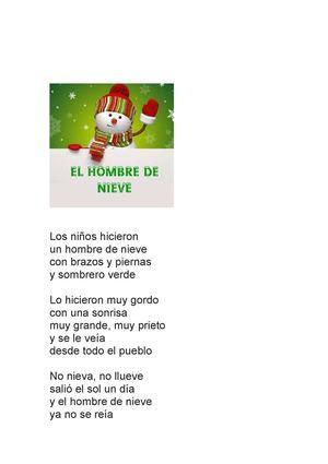 Poema Gloria Fuertes. El hombre de nieve