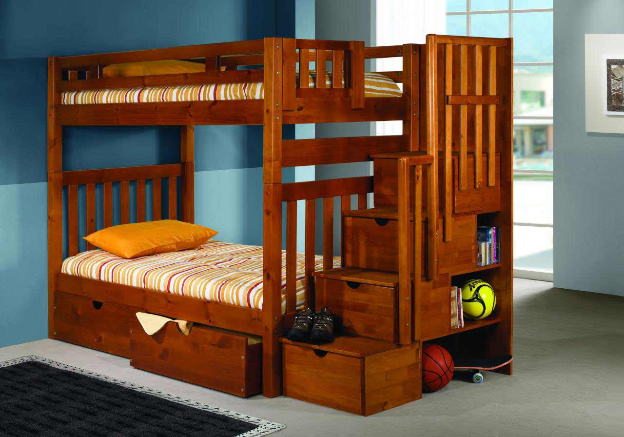 Bunk Beds With Steps Plans