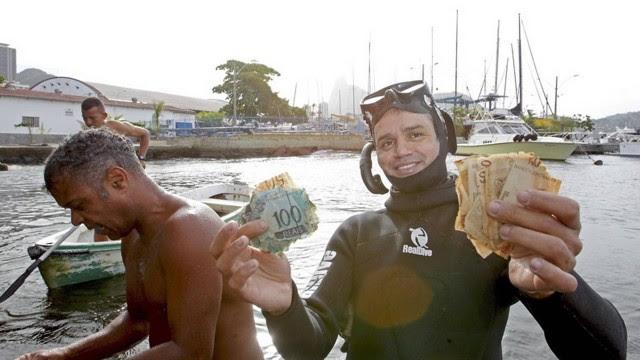 Samuel conseguiu 'pescar' R$ 550 em dois dias de buscas