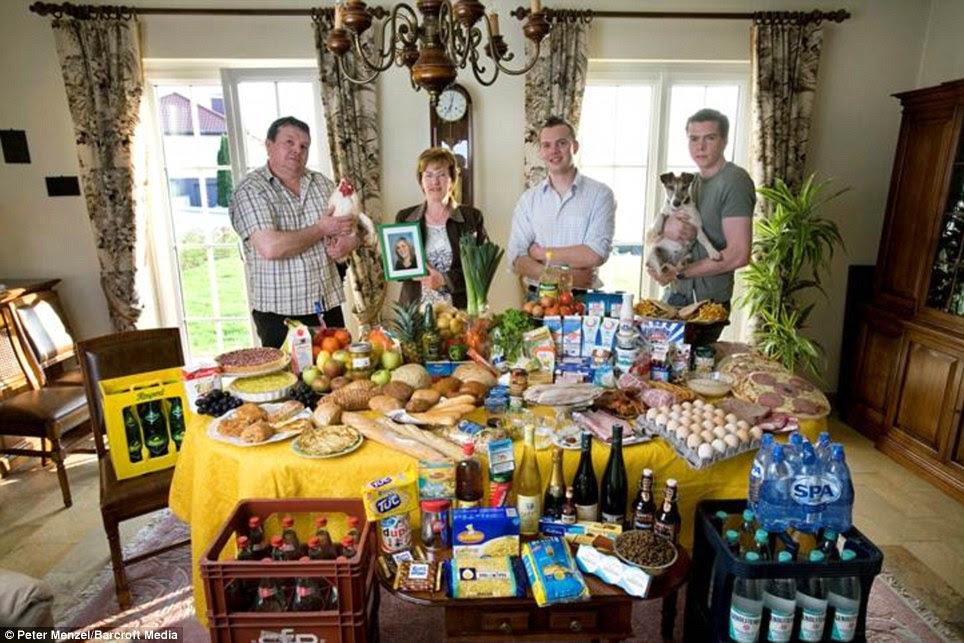 Λουξεμβούργο: Οι Kuttan-Kasses της Erpeldange που περνούν γύρω από £ 298 λίρες την εβδομάδα για τα τρόφιμα
