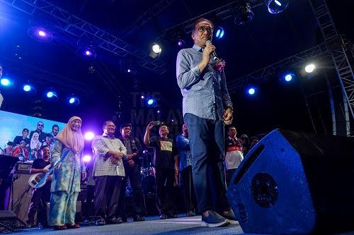 Kempen Anwar dalam konsert, penduduk PD teruja