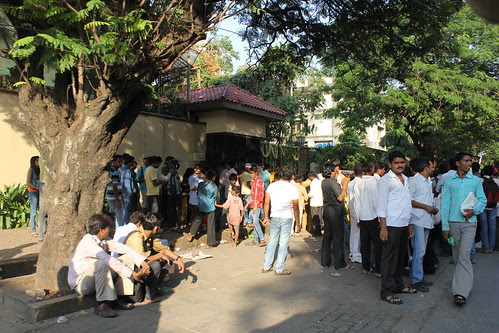 Crowds Outside Mr Amitabh Bachchans House 70 th Birthday by firoze shakir photographerno1