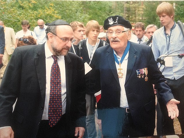 Samuel Willenberg (right, with the chief rabi of Poland on a visit to the camp in 2013) risked it all in an audacious escape, in which many friends and comrades died trying to flee their tormentors
