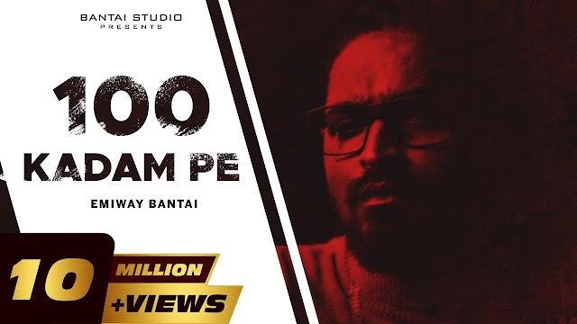 सौ कदम पे 100 Kadam Pe Hindi Lyrics - Emiway Lyrics