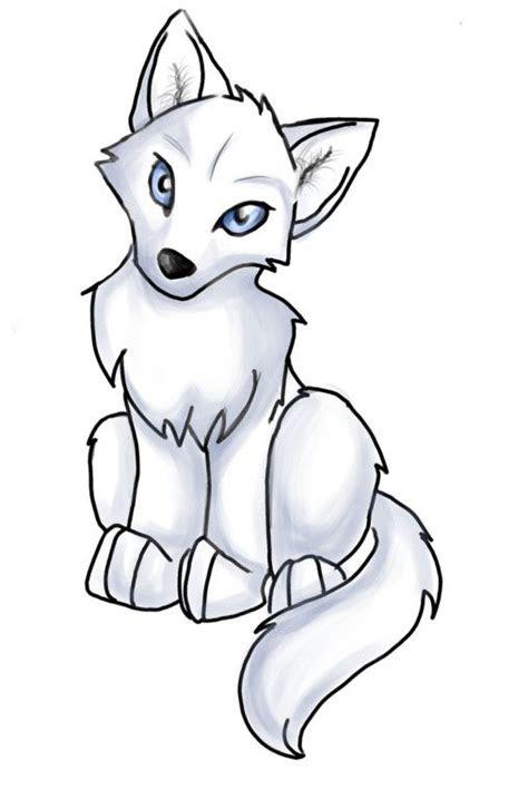anime wolf pup easy clipart  ideas   house