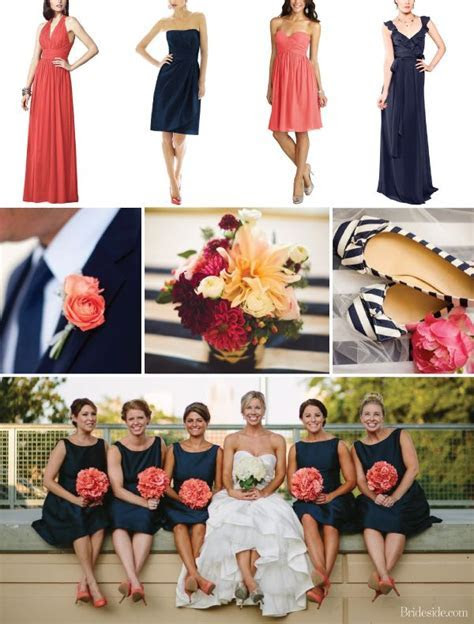 17 Best ideas about Coral Navy Weddings on Pinterest