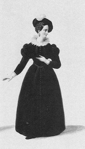 Cornelie Falcon as Rachel in Meyerbeer's Les Huguenots