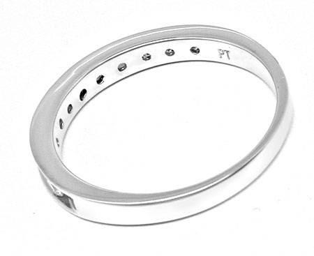 Foto 3, Neu! Platin!! Brillant-Halbmemory-Ring Luxus! Portofrei, S8477