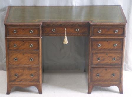 Antique Mahogany Pedestal Desk by Heal & Son