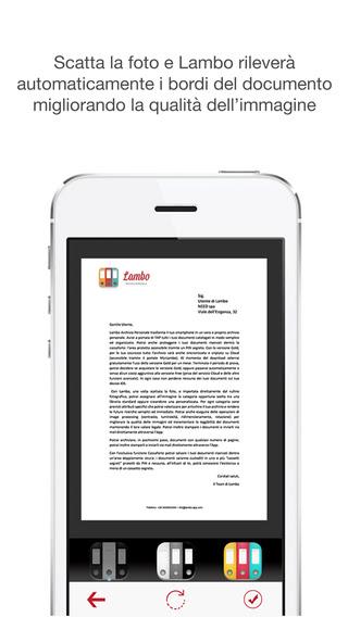 Lambo Archivio Personale trasforma il tuo smartphone in un vero e proprio archivio personale.