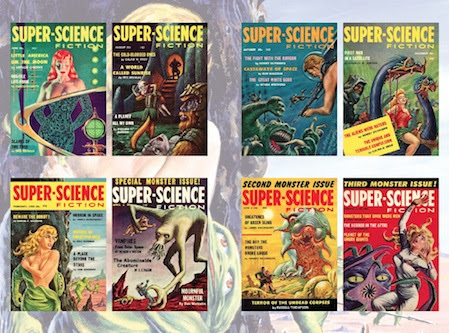 Back endpapers TALES FROM SUPER-SCIENCE                                                           FICTION