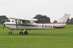 G-BNHK - 1981 build Cessna 152, arriving at the 2012 LAA Rally