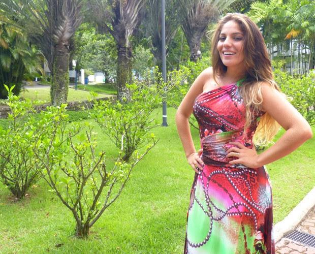 Anamara diz que está feliz após deixar a casa do BBB (Foto: Domingão do Faustão / TV Globo)