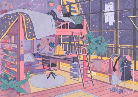 pin de cocoharu en anime rooms en  art anime art