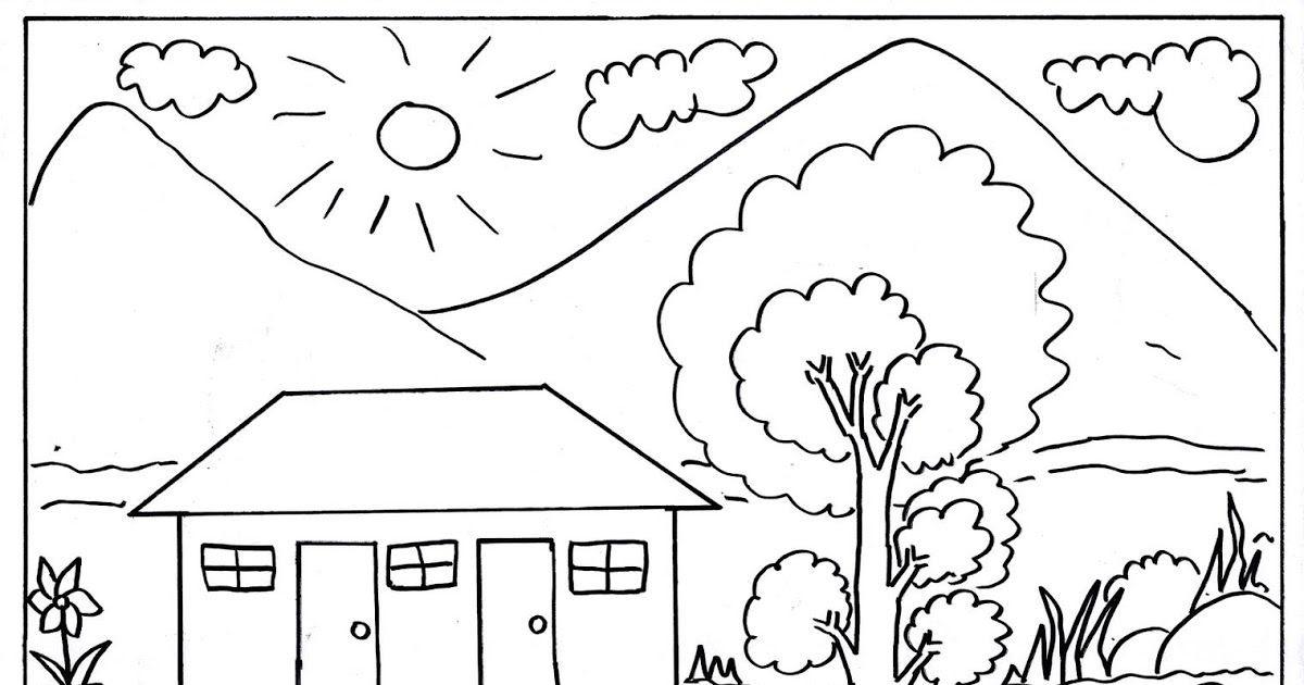 gambar hitam putih untuk mewarnai lukisan bunga matahari