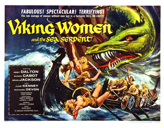 Reynold Brown - Viking Women and the Sea Serpent (American International, 1957) half sheet