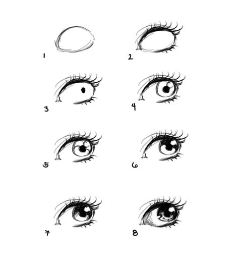 draw anime eyes step  step  beginners