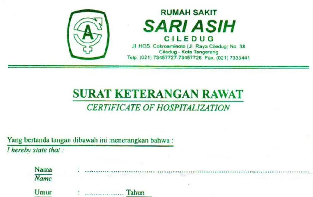 Surat Dokter Rumah Sakit Bogor