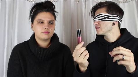Husband blindfolded wife to show on cam