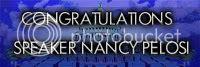 Congratulations Speaker Nancy Pelosi