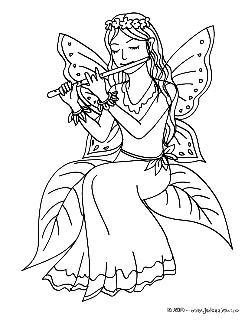 fairy playing flute kawaii 01 eau 3qy
