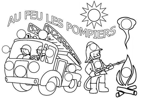 Coloriage Pompier
