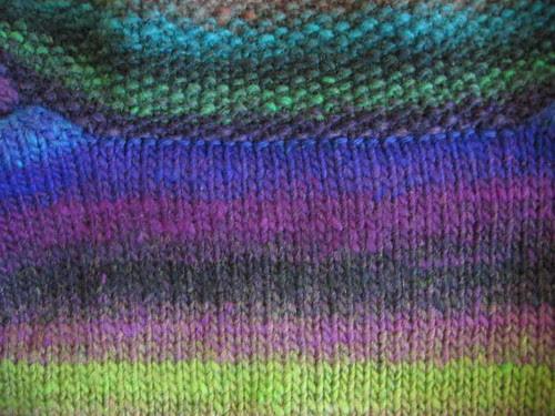 Outside view of crochet
