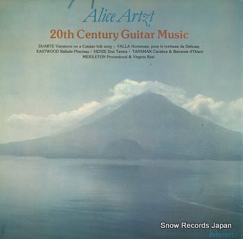 ARTZT, ALICE 20th century guitar music
