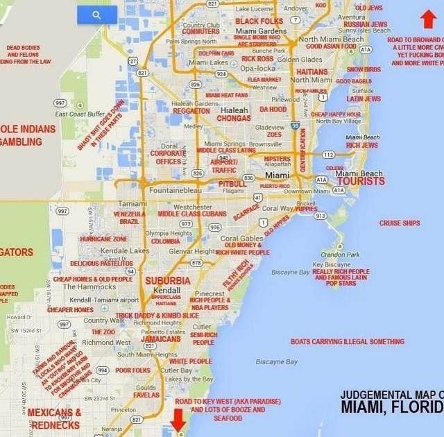google maps mapa de miami - maps
