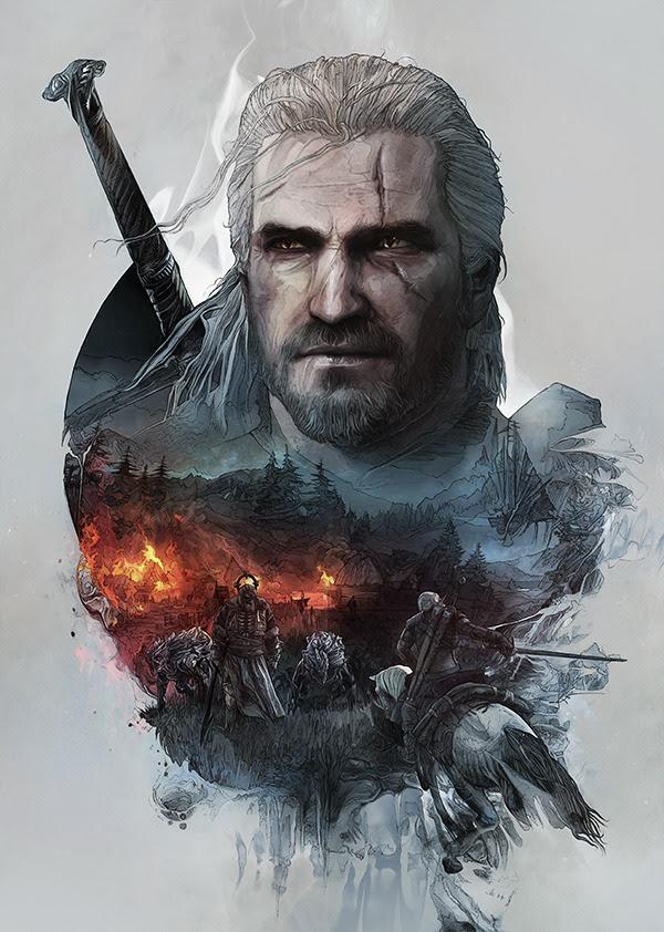 The Witcher 3: Wild Hunt Steelbook Artwork byKrzysztof Domaradzki