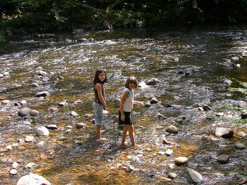 standing in the river