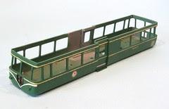 Varnished railbus body
