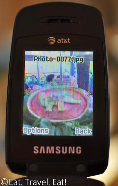 UC Irvine Pippin Commons- Irvine, CA: UCI Watermelon (picture of a picture)